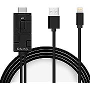 HDMI Kabel, Bealviy 6.6ft Digital-AV-Adapterkabel HDMI-Konverter Unterstützt 1080P HDTV-kompatibel mit dem Pad, HDMI-Adapter, Phone X 8 7 6 Plus Pad und dem TV-Projektor-Monitor