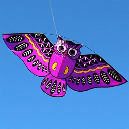 NOLOGO Hermosa 2020 Cometa, Cometa Niños Cometas de Colores for los niños fácil de Volar for la Playa al Aire Libre de la Nueva Historieta del búho del Vuelo Un Gran Juguete al Aire Libre para