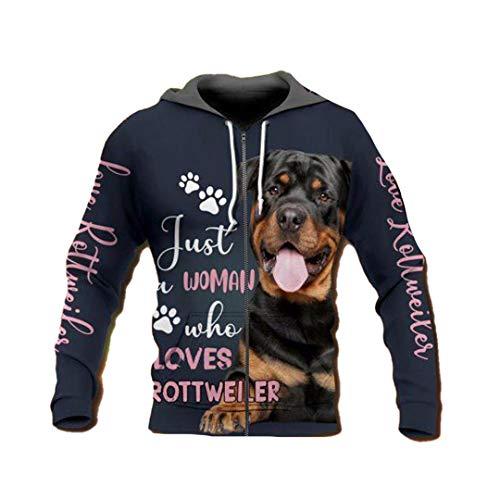 3D Dog Printed Hoodies Women/Men Streetwear Outfit Autumn Girls Hip Hop Hood Sweatshirts Tops Zip Hoodies Asian Size XXL