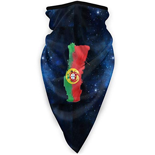 NUBOMINI Portugal Map Portugese Vlag Gezicht Bescherming - Unisex Nek Warmer Balaclavas Hoofdband voor Outdoor Activiteiten Sport