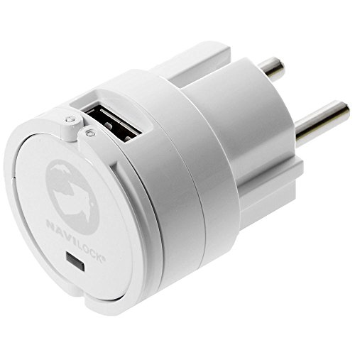 Navilock Adapter USB AC 110-230V 2X USB...