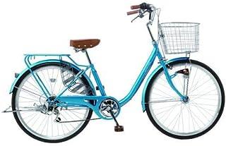 パンクしない自転車 ファッション軽快車 26型 外装6段変速 26インチ