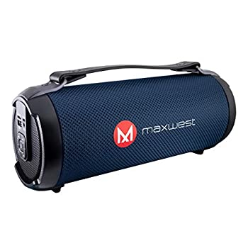 Powerful Bluetooth Speaker Portable Indoor/Outdoor Wireless Speaker Rechargeable Battery Supports Radio FM Aux and MicroSD/USB 10M Bluetooth Range | Black