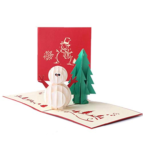1pc 3d Up Grußkarten Karikatur-schneemann-weihnachtspapier Karten Folding-einladungs-karten-postkarte Für Partei-weihnachtsgeschenkkarte Pop