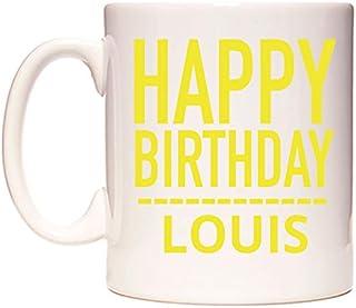 Happy Birthday Louis (Plain Yellow) Taza por WeDoMugs®