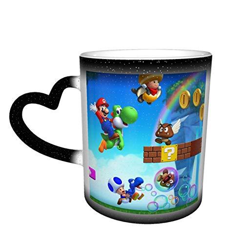 Nuevo Super Mario bros u DLC Taza de café de cerámica Tazas de té de color cambiante novedad familia amantes amigos oficina y hogar regalo de salud