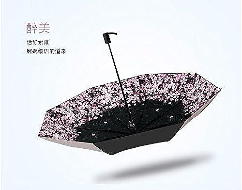 ZHUDJ Déesse Parapluie Noir Parapluie Anti - UV pour La Double Personnalité Créatrice Rétro Les Parasols,Ivre De La Beauté