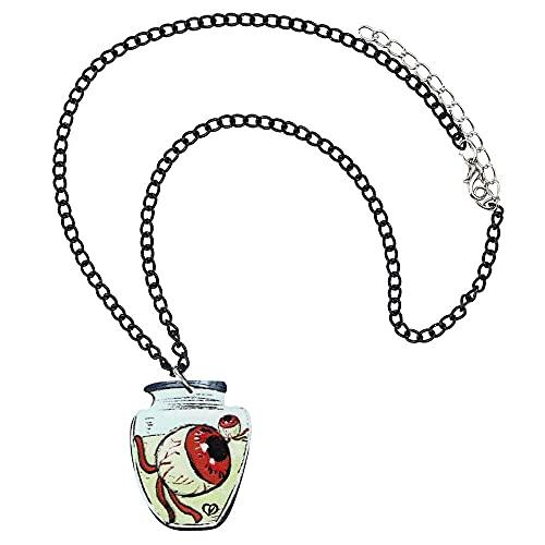 Collar Acrílico Halloween Evil Eyeballs Botella Collar Cadena Gargantilla Colgante Collar Joyería Para Mujeres Niñas Encanto Regalo De Moda