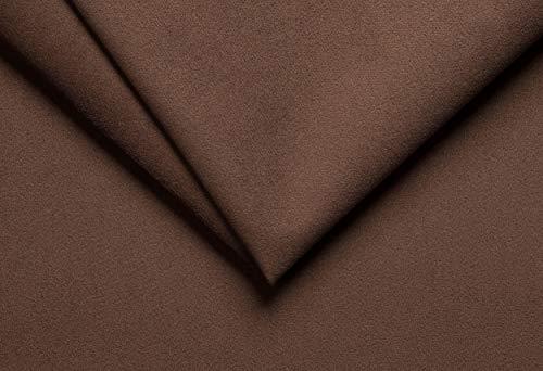 Ch.Cabanski Amaretta Imitat Microfaser Velour Meterware Kaschiert ca. 3mm Schaum (Brown)