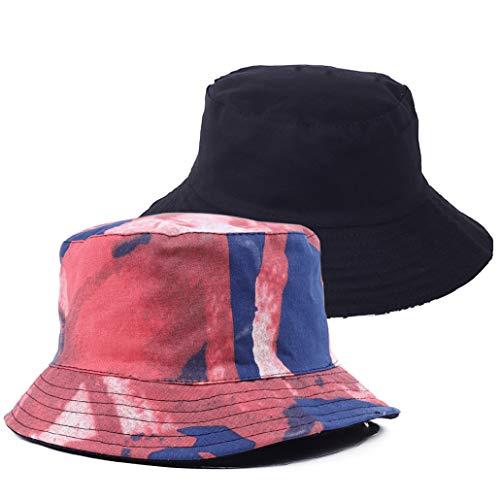 FORBUSITE Witzig Fischerhut Sonnenhut für Herren - Wendbar AUD Packbar - Baumwolle - Bucket Hat
