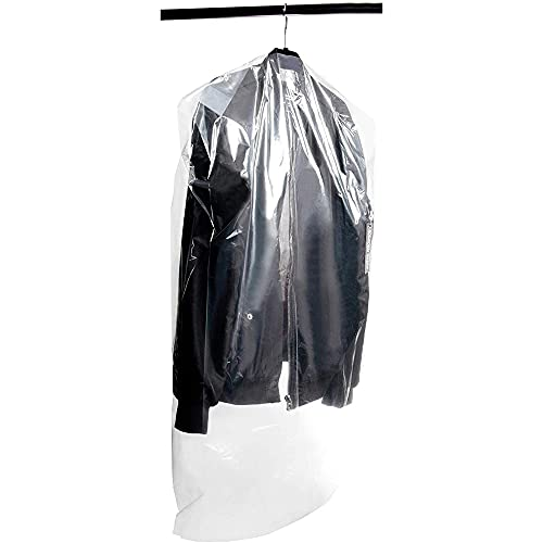 Juvale Plastic Garment Bags for Dresses and Suits (21.3 x 39.7 in, 50 Pack)