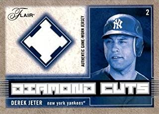 2003 Fleer Flair Diamond Cuts #DC-DJ Derek Jeter Game Worn Jersey Baseball Card