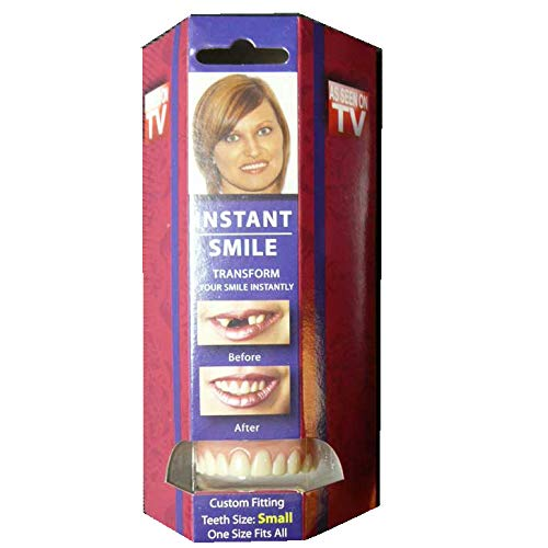 Instant Smile Teeth Small Deluxe Top Veneers Fake Cosmetic Dr Bailey's Fitting