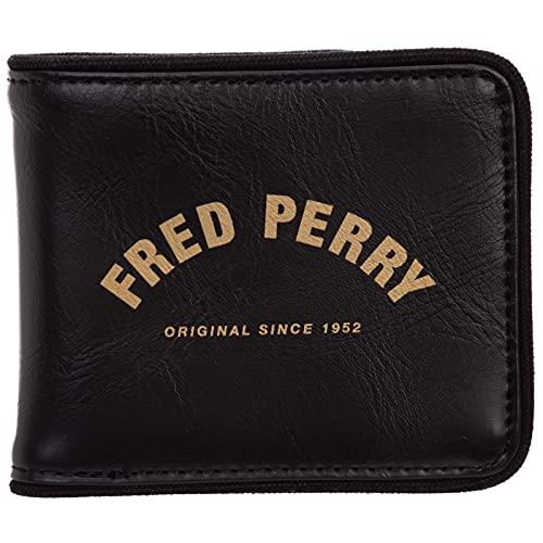 Fred Perry Cartera original para hombre negro, Negro,...