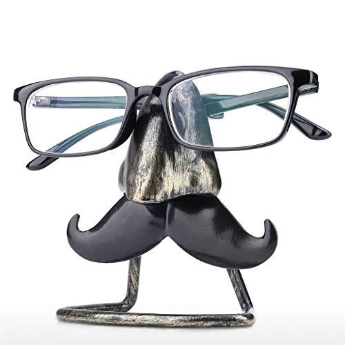 Aiglen Soporte para anteojos con Forma de Nariz y Barba Grande, Escultura de Hierro, artesanía, Gafas de Sol, exhibición, Escritorio, decoración, Regalo para Amigos