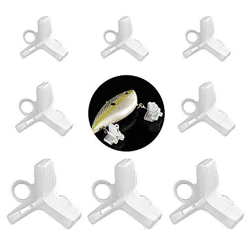 VINFUTUR 60 Stücke Drillingshakenabdeckungen 3 Größe Drillingshaken Schutzkappen Angelhaken-Schutz Finger Sicherheit Angelhaken Zubehör für Drillingshaken-Größe 1/2/3/4/5/6/7/8