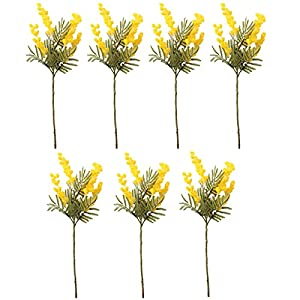 JONJUMP 38cm Fake Acacia Artificial Flowers Mimosa Spray Cherry Fruit Branch Wedding Home Table Decoration Fake Flower