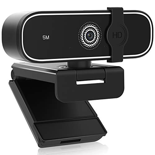 2K Webcam with Microphone, BNT 5MP PC Camera Webcam Live Streaming Camera, USB 2.0 Computer Camera with Auto Light Correction Plug and Play for PC Video Conferencing/Skype/YouTube/Zoom