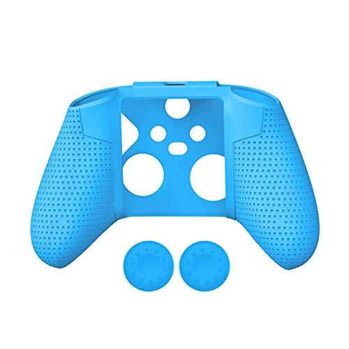 Enjoyyouselves Funda de silicona para mando de Xbox Series S/X, resistente carcasa de goma con 2 tapas basculantes antideslizantes para Xbox Series S/X.