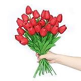 Anaoo 24 Pezzi Bouquet di Tulipani Fiori in Lattice, Fiori Artificiali per Nozze, DIY Fest...