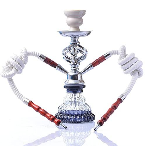 BGSFF Juego Completo de cachimba de Lujo de 11.5 Pulgadas, Juego de Fumar en Pipa de cachimba con 2 mangueras Profesionales, Juego de cachimba árabe
