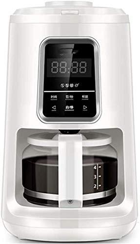 Automatische Amerikaanse Koffiezetapparaat vers gemalen koffie Pot slijpmachine Freshly Ground Soja Poeder 2 met Touch Screen LED Klok-White WKY (Color : White)