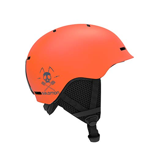 Salomon Kinder Ski- und Snowboardhelm, In-Mold-Schale + EPS-Innenschale, Größe M, Kopfumfang 53-56 cm, Grom, orange, L40836500