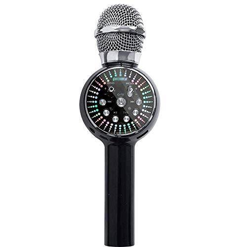 Wireless-Karaoke-Mikrofon-Lautsprecher, 4 in 1 beweglichen Karaoke-Player-Lautsprechern mit Blitz, Geeignet for AusgangsKTV Spieler, Außen Partei GAONAN