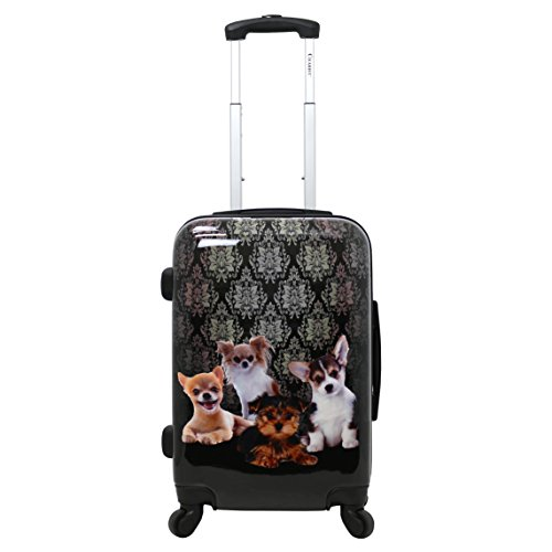 Chariot Travelware DOGGIES 20' Cute Hardside Carry-On Spinner TSA-Lock Luggage