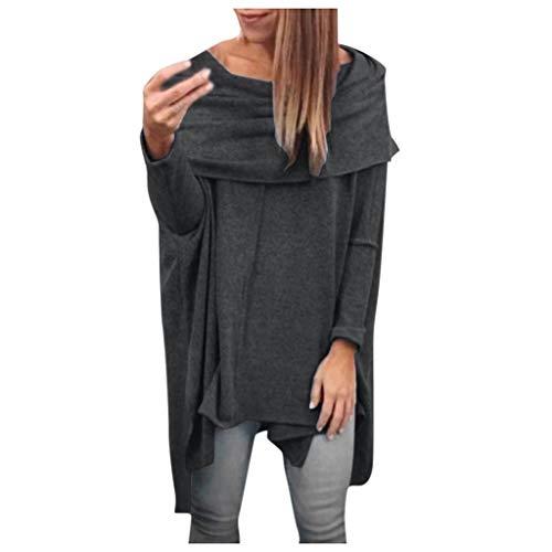 NPRADLA 2018 Damen Tops Langarm Herbst Frauen Blusen Elegant Winter Quaste Hem O Ausschnitt Einfarbig Strickjacke Shirt Große Größen