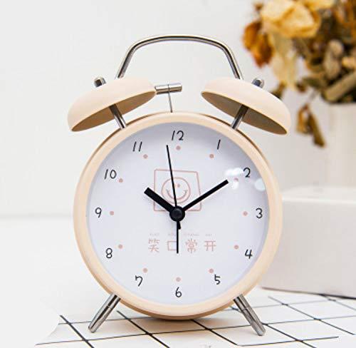 Renfengchui Moda 5 Pulgadas Reloj de Alarma Redondo Gran Puntero Doble...