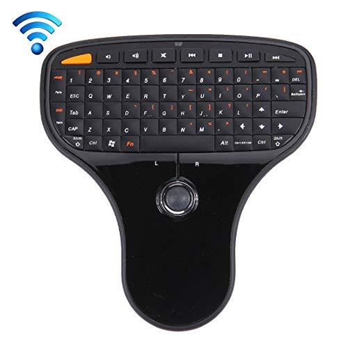 Clyluck Cly mouse, tastiera Wireless Mouse N5901 2.4GHz Mini Wireless e Mouse Combo & mini ricevente del USB, Dimensioni: 125 x 135 x 27 millimetri (nero) (Color : Black)