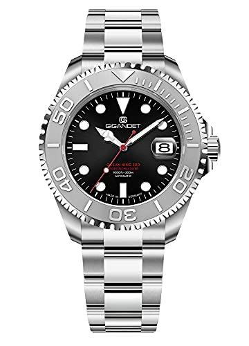 Gigandet Ocean King G404-002M - Reloj automático para hombre (fabricado en Alemania, cristal de zafiro, acero inoxidable, sumergible a 300 m, 30 bares)