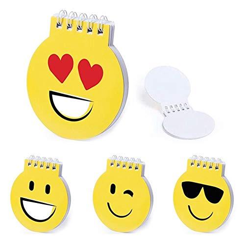 WINLON LIBRETA DE EMOTICONOS (Lote 20 Unidades)-Cuadernos Emoji - Libretas Anillas orginales con Motivos de Emoticono