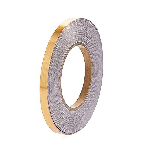 MIAOJI Etiqueta Adhesiva para Costuras de Tiras de Azulejos, 0.5/1/2 * 5000cm Plateado/Dorado Adhesivo Adhesivo para Costuras de Tiras de baldosas para Pisos Cinta Adhesiva Impermeable, 0.5 cm / 0.2'