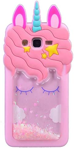 Quicksand Unicorn Case for Samsung G530 Awin 3D Cute Kids Girls Women Bling Glitter Soft Silicone product image