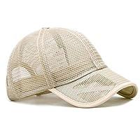 ユニセックスベースボールキャップ、中空アウト通気性冷却日焼け止め帽子