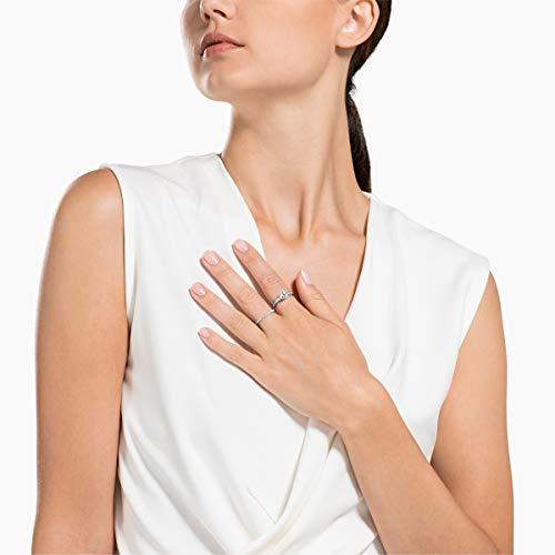 Swarovski Set Anelli Attract, Bianco, Placcatura Rodio