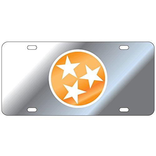 Tennessee Volunteers Mirror Tri-Star Laser Cut License Plate