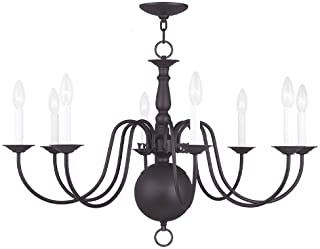 Livex Lighting 5007-07 Williamsburg 8-Light Chandelier, Bronze