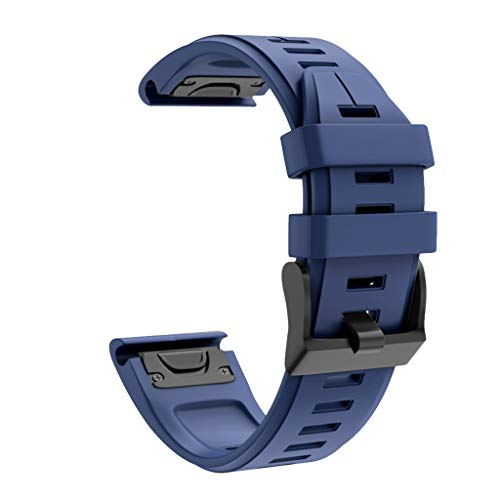TeaBoy Compatible with Garmin Fenix 6X Band 26mm Easy Fit Silicone Smartwatch Bands Replacement Strap Wristband Compatible with Fenix 6X/Fenix 6X Pro/Fenix 5X/Fenix 5X Plus/Fenix 3/Fenix 3 HR
