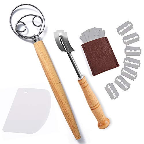 Danish Dough Whisk and Bread Lame Set Double Eye