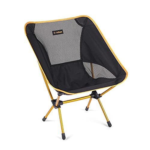 Helinox Chair One Original Lightweight, Compact, Collapsible Camping Chair, Black/Golden Yellow