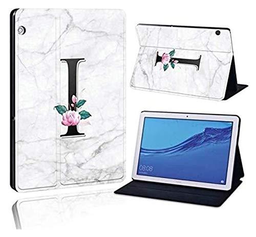 ZRH Accesorios De Pestañas para Huawei MediaPad T3 8.0 / T3 10 10.1 / T3 10 9.6, Impreso 26 Letras PU Cuero De La Tableta De Cuero Funda a Prueba De Golpes para Huawei MediApad T3 T5