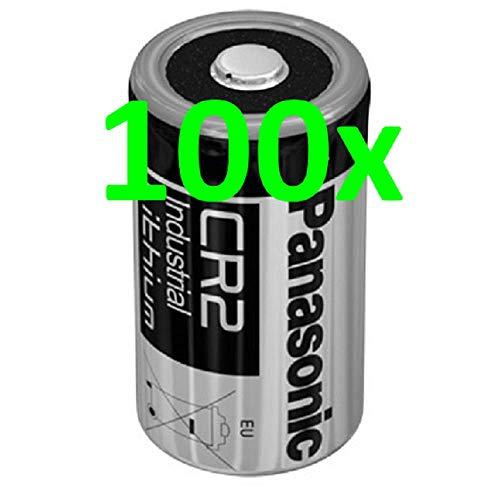 100x Panasonic Lithium Batterie CR2 3V 850mAh CR17355, DLCR2, EL1CR2, CR15H270 AKKUman Set (100er)