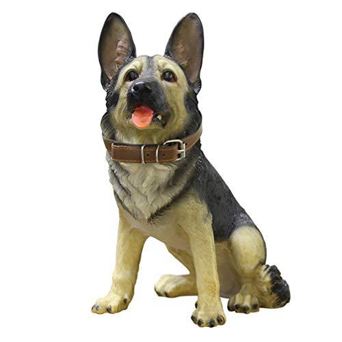 Garneck Figura de Perro Grande Modelo de Animal de Acción de Animal de Juguete Soldado Militar Estatua de Perro para Estantería TV Gabinete Colección Ornamento