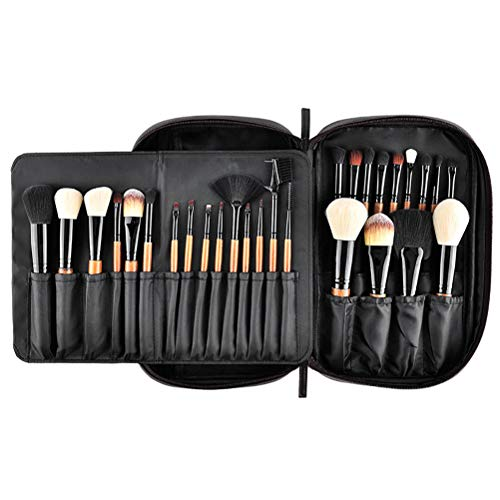 Pinceau De Maquillage Set 28 Pcs Fibre Professionnelle Outils De Maquillage Advanced Foundation Blend Blush Ombre À Paupières Brosse Sac Pu