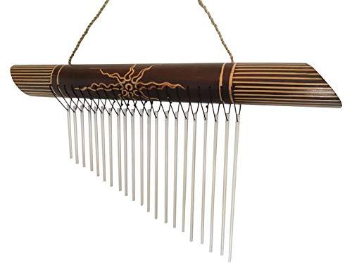 Klangspiel Metall Bambus Windspiel Feng Shui Klang3