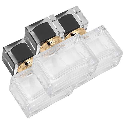 Botella de perfume portátil vacía del dispensador de perfume para el bolsillo para la loción del cuidado de la piel para el maquillaje DIY para las mujeres (negro)
