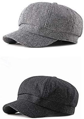 Demarkt Schirmm/ütze Herren Schieberm/ütze Schwarz Fr/ühling Flatcap Newsboy Cap